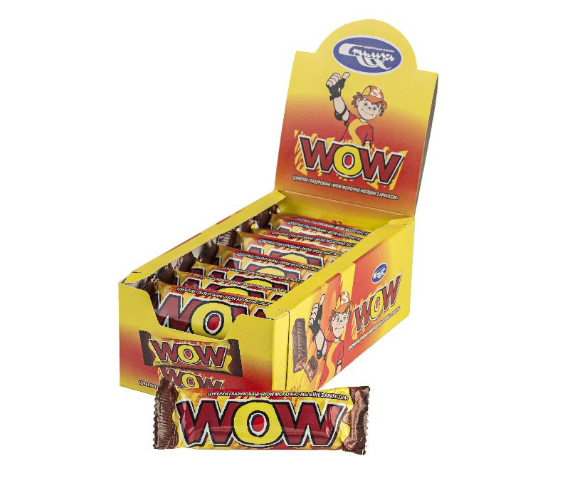 Батончик «WOW» арахисовый шоу-бокс