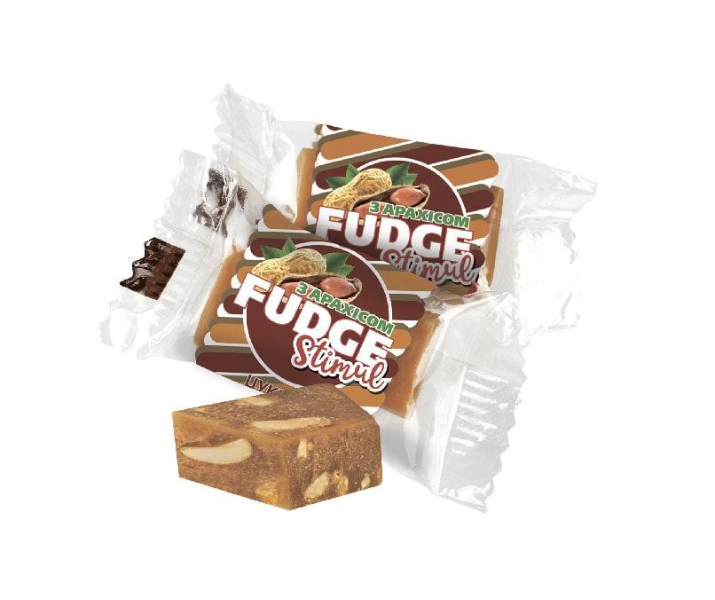 Цукерка «FUDGE STIMUL» з арахісом в етикеті